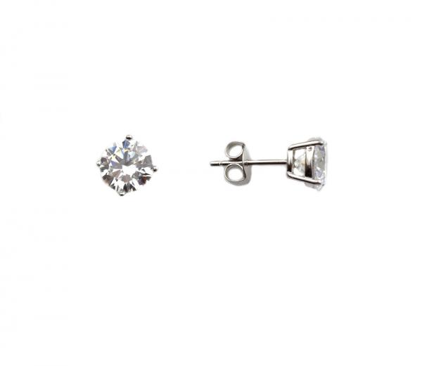 Cercei argint rodiat rotunzi - DA144