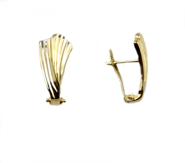 Cercei aur forma frunza - DA50 0
