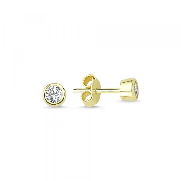 Cercei aur galben bobite cu zirconiu - DA227 [0]