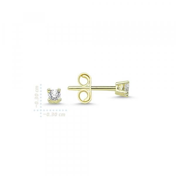 Cercei aur galben cu zirconiu - DA233
