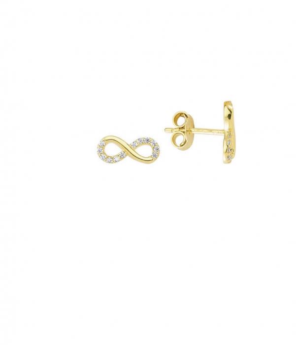 Cercei aur galben infinit - DA469 [0]