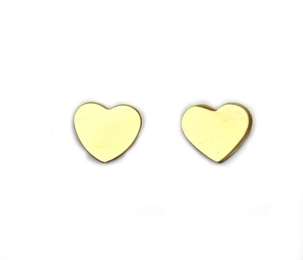 Cercei aur galben inimioare - DA22 0