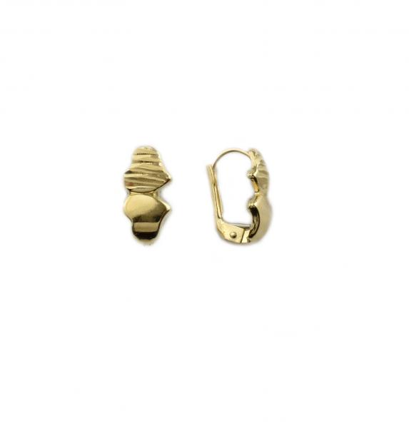 Cercei aur galben inimioare - FT415 0