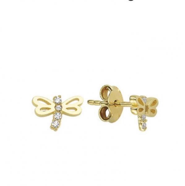 Cercei aur galben libelule - DA369 0