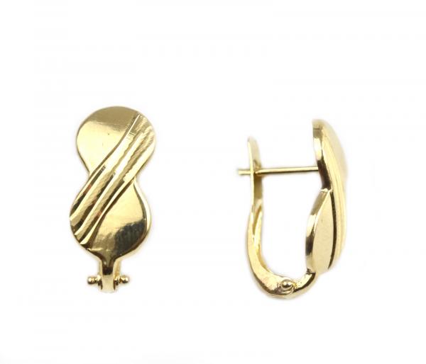 Cercei aur galben opturi - DA35 0