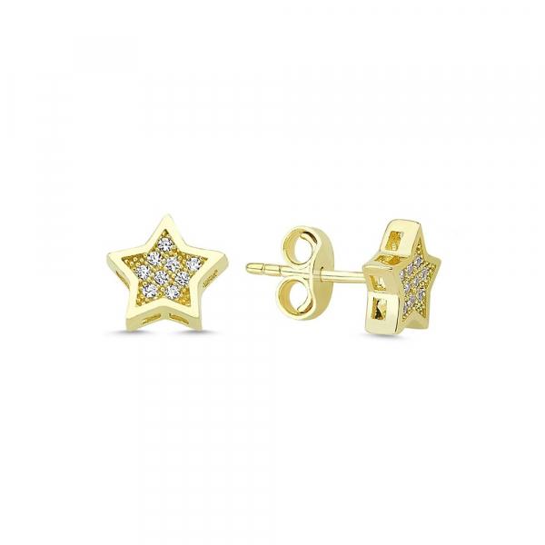 Cercei aur galben stelute cu zirconia - DA335 0