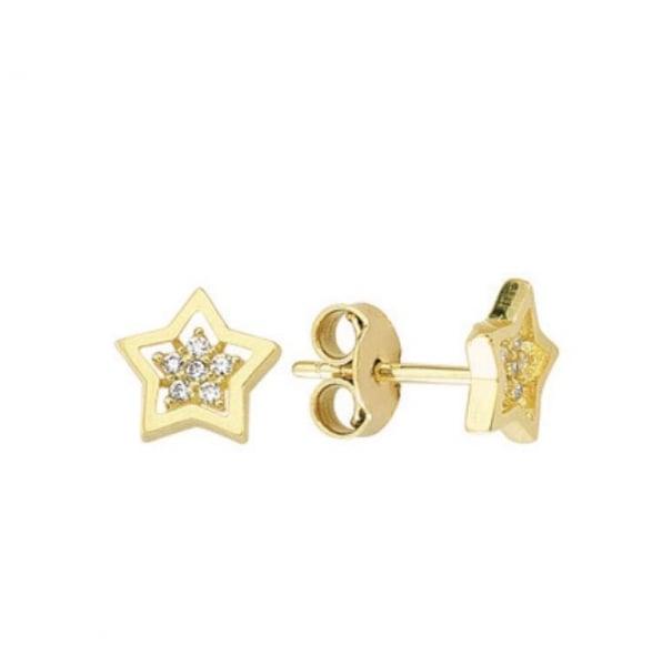 Cercei aur galben stelute cu zirconia - DA362 0