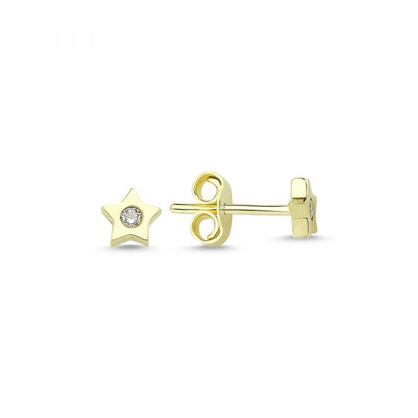 Cercei aur galben stelute cu zirconia - DA228 0