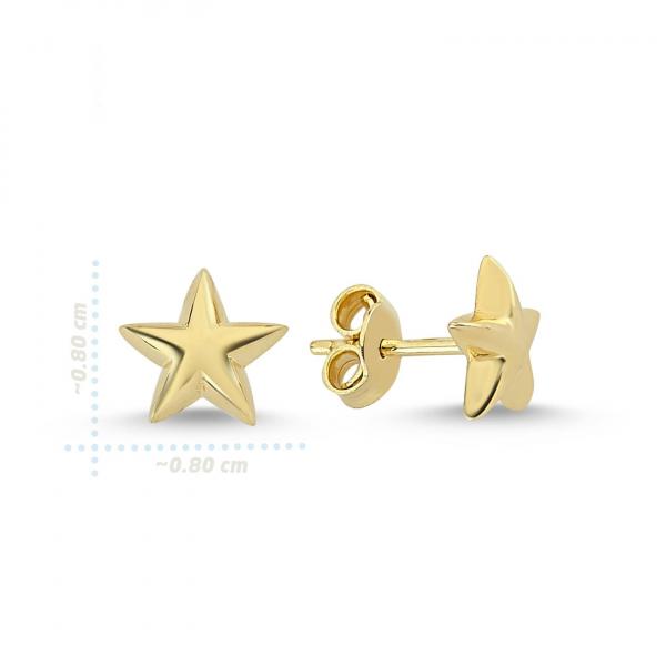 Cercei aur galben stelute - DA229 1