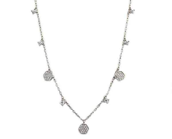 Colier argint rodiat cu pandante - DA114 0