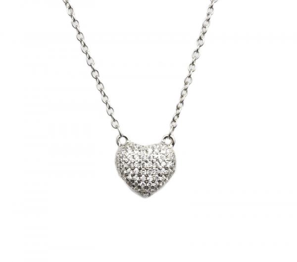 Colier argint rodiat cu zirconiu - DA118 0