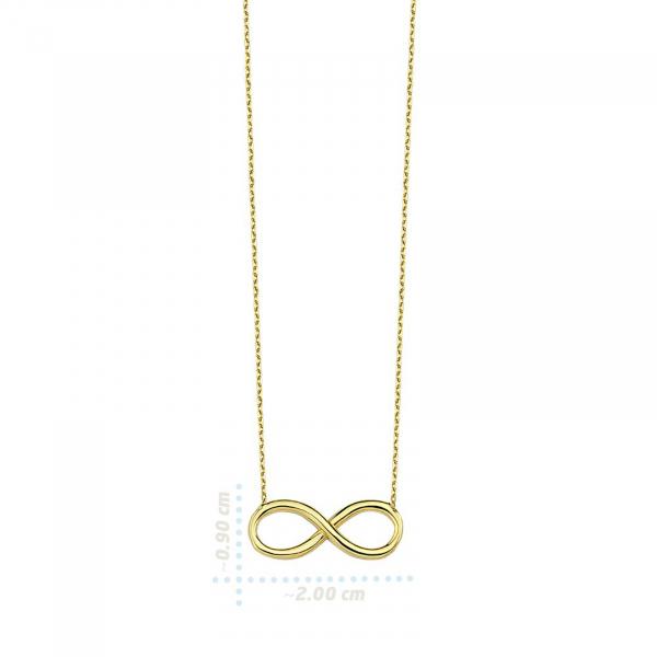 Colier aur galben 14k  cu pandant infinit - DA329 1