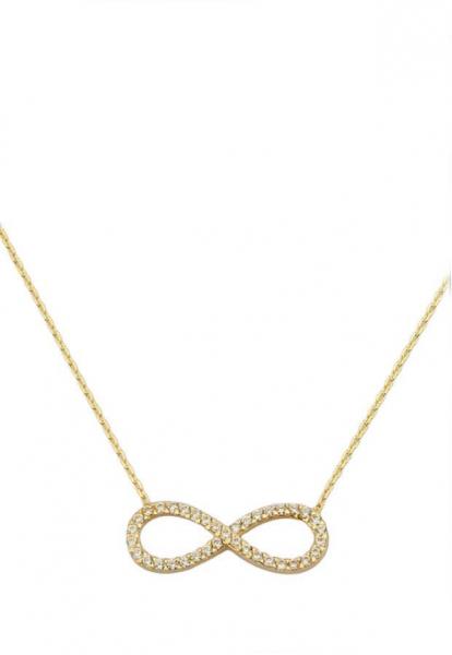 Colier aur galben 14k  cu pandant inimioara - DA383 0