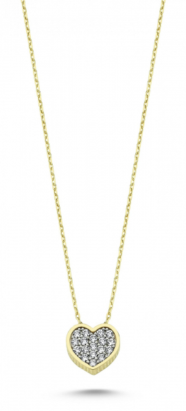 Colier aur galben 14k  cu pandant inima - DA238