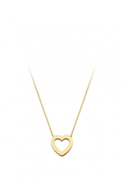 Colier aur galben 14k  cu pandant inima - DA377 0