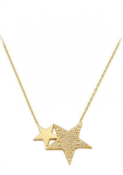 Colier aur galben 14k  cu pandant stele - DA380 0