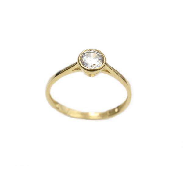 Inel aur galben cu zirconia - DA280 0