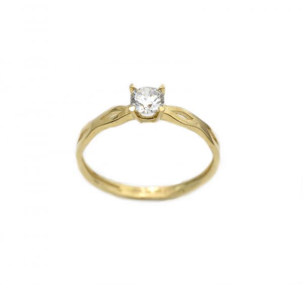Inel aur galben cu zirconia - DA281 0