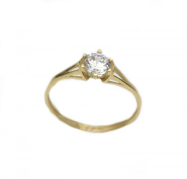 Inel aur galben logodna cu zirconia - DA291 0