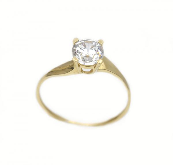 Inel aur galben logodna cu zirconia - DA293 0