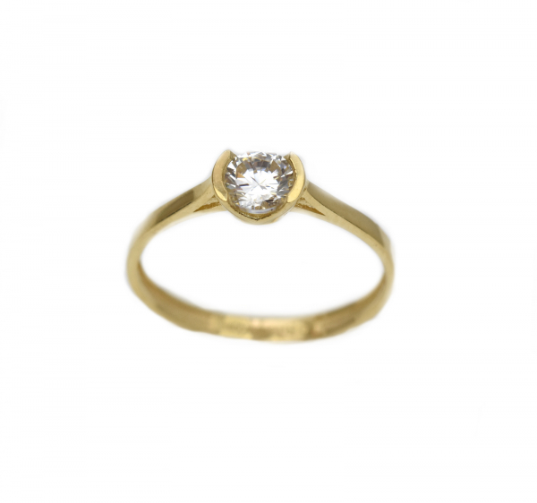Inel aur galben logodna cu zirconia - DA306 0