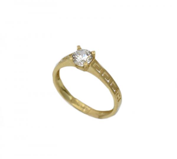 Inel aur galben logodna cu zirconiu - DA310 0