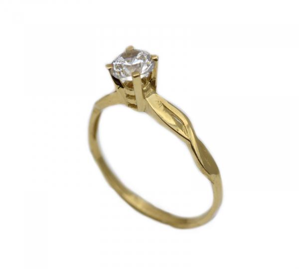 Inel aur galben logodna cu zirconia - DA315 0