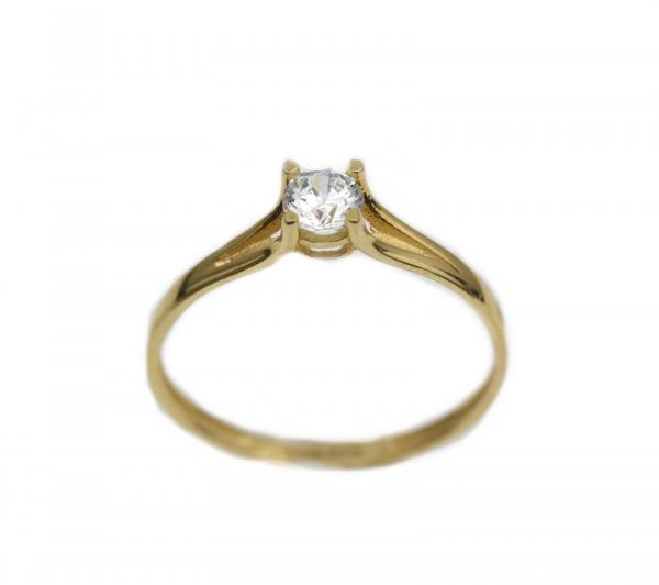 Inel aur galben logodna cu zirconia - DA317 0