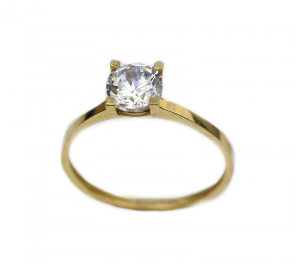 Inel aur galben logodna cu zirconia - DA320 0