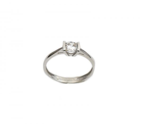 Inel de logodna aur alb cu zirconia - DA258 0