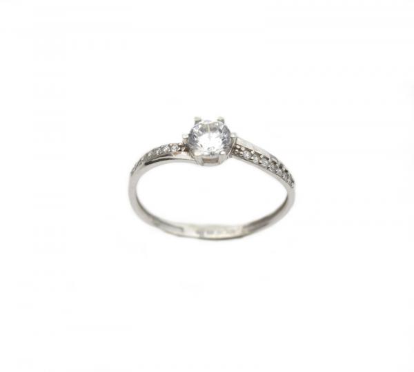 Inel de logodna aur alb cu zirconiu - DA260 0