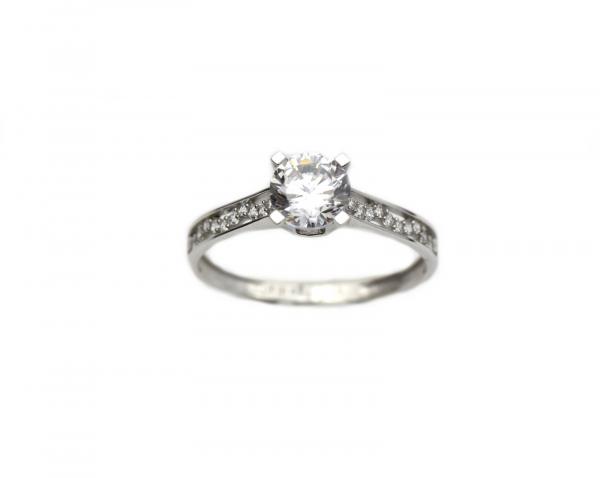 Inel de logodna aur alb cu zirconia - DA264 0