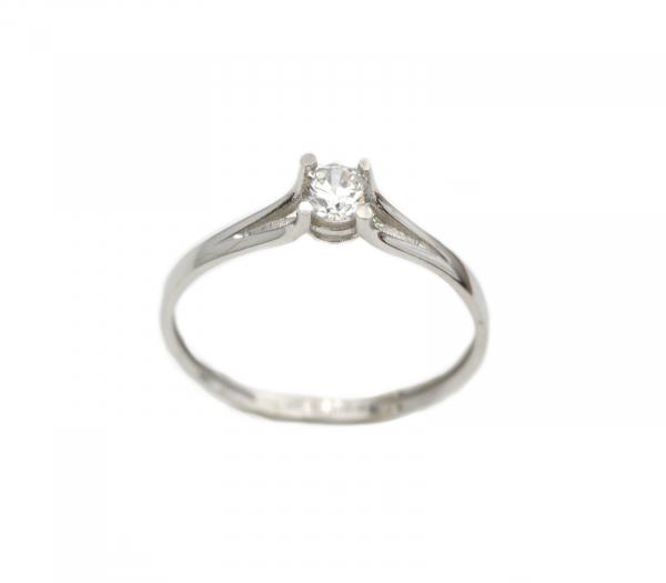 Inel de logodna aur alb cu zirconiu - DA285