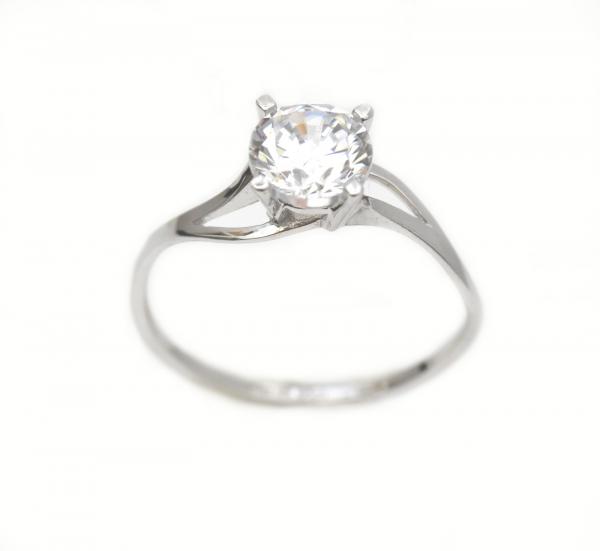 Inel de logodna aur alb cu zirconia - DA292 0
