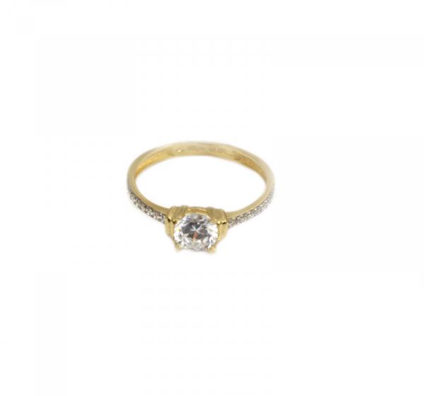 Inel de logodna aur galben cu zirconiu - DA172