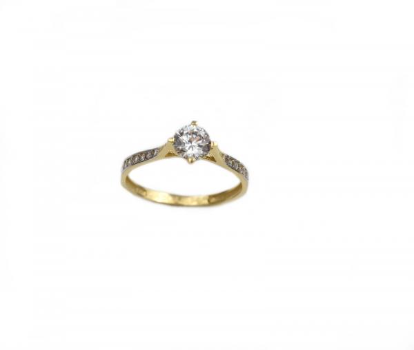 Inel de logodna aur galben cu zirconia - DA180 0