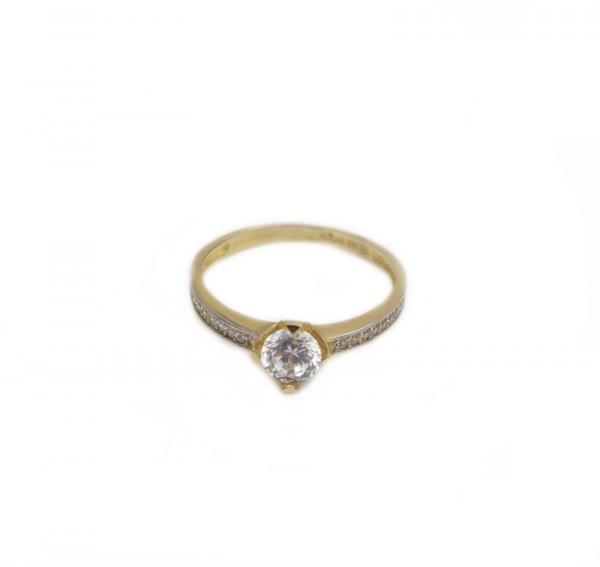 Inel de logodna aur galben cu zirconia - DA180 1