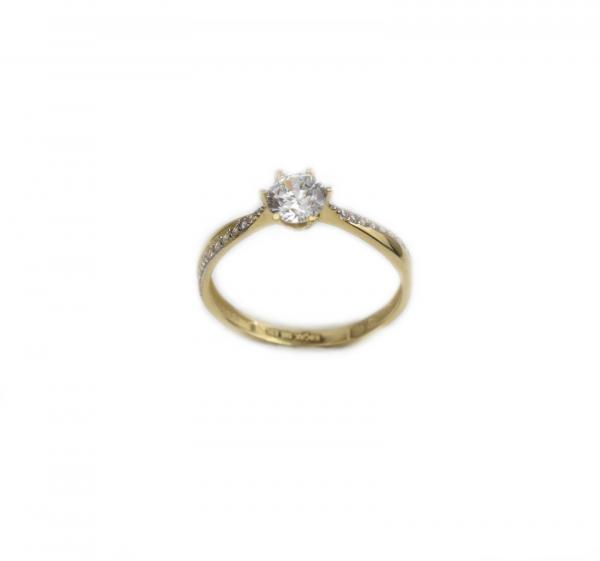 Inel de logodna aur galben cu zirconia - DA192 0