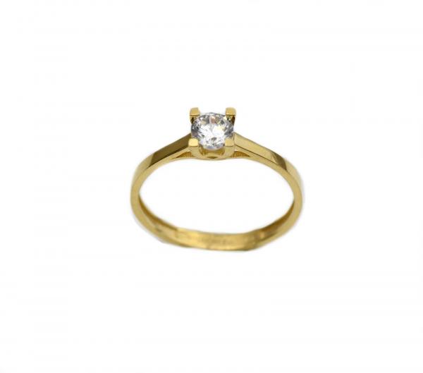 Inel de logodna aur galben cu zirconiu - DA256