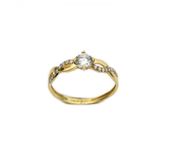 Inel de logodna aur galben cu zirconiu - DA257