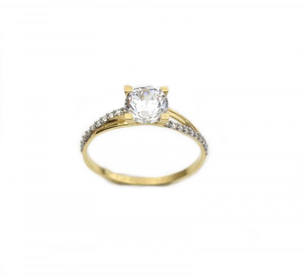 Inel de logodna aur galben cu zirconiu - DA259 0