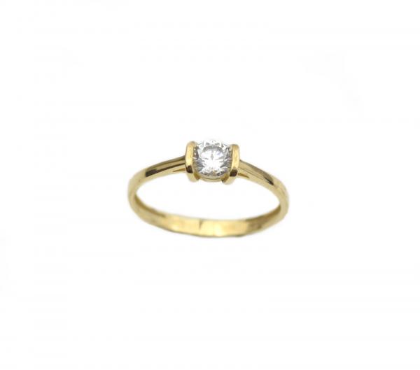Inel de logodna aur galben cu zirconiu - DA261 0