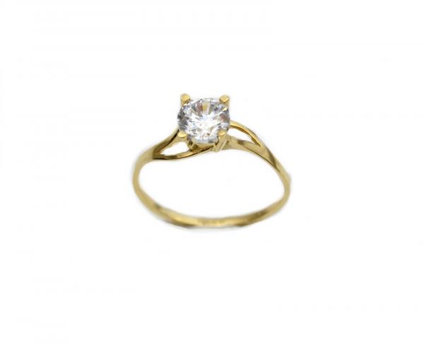 Inel de logodna aur galben cu zirconiu - DA262 0