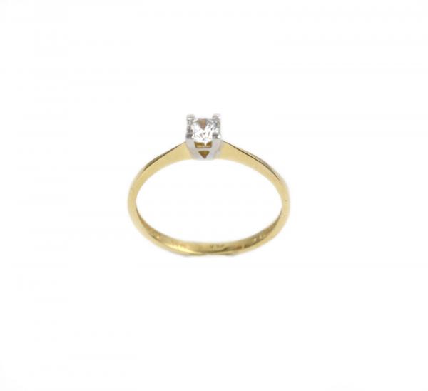 Inel de logodna aur galben si alb cu zirconia - DA169 0
