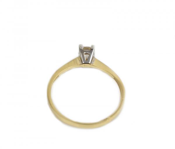 Inel de logodna aur galben si alb cu zirconia - DA169 1