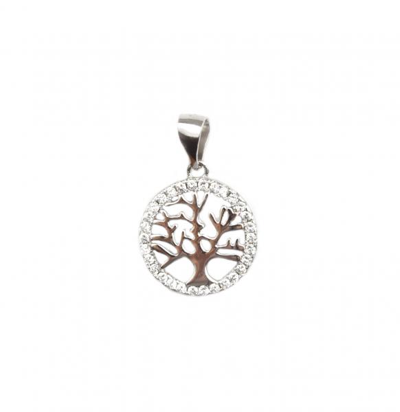 Pandant argint rodiat arborele vietii - DA104 0