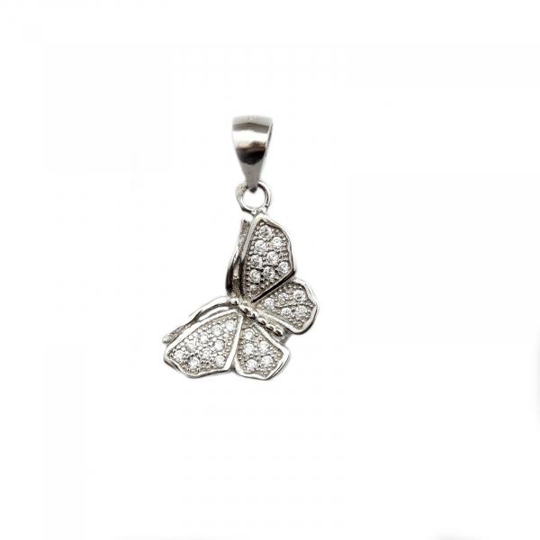 Pandant argint rodiat fluture - DA101 0
