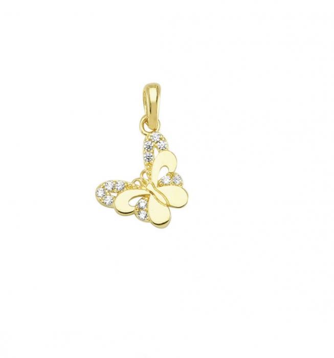 Pandant aur galben fluture - DA484 0