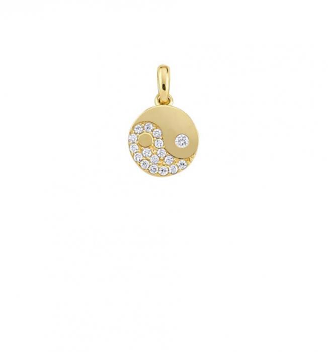 Pandant aur galben Yin si Yang - DA480 [0]
