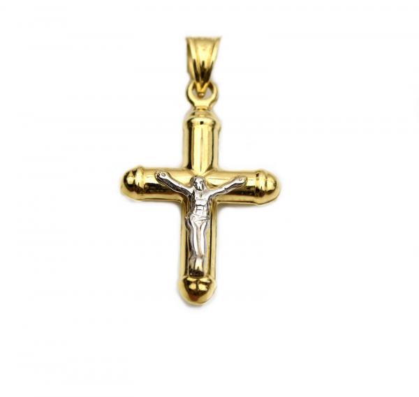 Pandant cruciulita aur galben cu Iisus - DA249 0